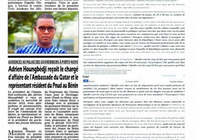 Expédit Ologou écrit aux futurs députés
