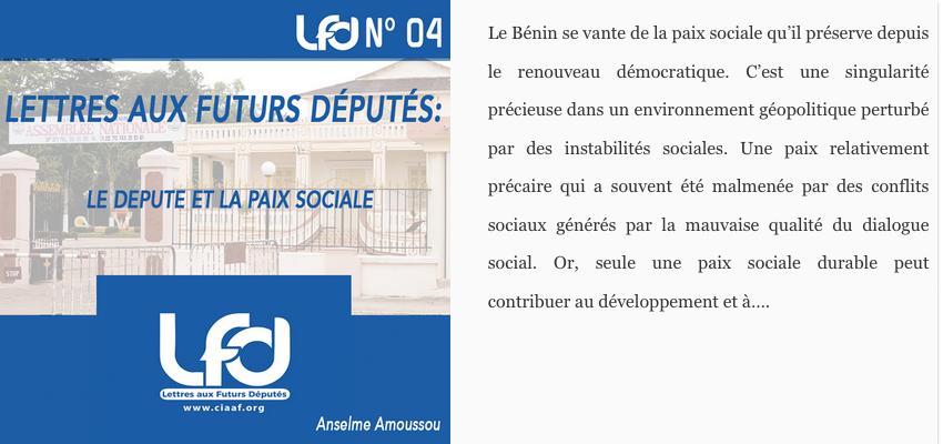Lettres aux futurs députés n°4 : le député et la paix sociale